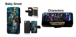 Guardians of the Galaxy Baby Groot faux leather phone case for iPhone