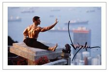 JEAN CLAUDE VAN DAMME SIGNED PHOTO PRINT AUTOGRAPH BLOOD SPORT KICK BOXER