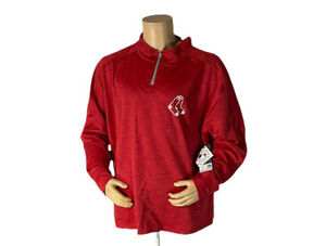 Majestic MLB Boston Red Sox 1/4 zip pullover sweater  2XL Men's Red