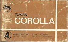 TOYOTA COROLLA 2 E20 Betriebsanleitung Instructieboek Manual del Propietario BA