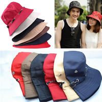 Unisex Men Women Kids Sun Hat Outdoor UPF 50+ Cotton Hiking Fishing Bucket Cap