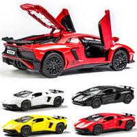 1/32 Diecast Racing Car Model Lamborghini Aventador LP750-4 Toys Collection
