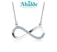 Collar Colgante Joya Sweet Silver Infinity Moda Mujer Regalo San Valentin Amor