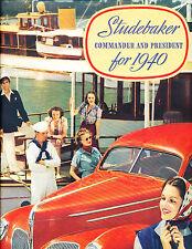 1940 Studebaker Commander President 12-page Original Car Sales Brochure Catalog