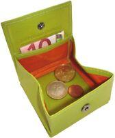 Leder Geldbörse CENT Limone mit Wiener Schachtel Portemonnaie Geldbeutel Münzbox