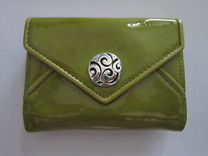 New BRIGHTON $75 Leather Twister I-Phone Credit Card Case WrIstlet PALM GREEN