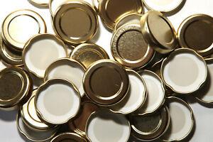 JAM JAR LIDS SIZE 43, 48, 53, 58, 63, & 82MM STANDARD & POP-UP BUTTON QTY 6- 100