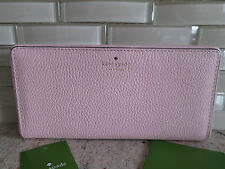 NWT KATE SPADE NEW YORK  LEATHER LARGE  STACY MULBERRY  WALLET WLRU2607
