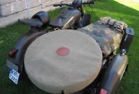 Handmade Canvas Sidecar Spare Wheel Cover M72 K750 Dnepr MT