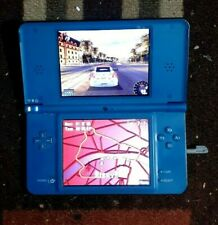 Nintendo DSI XL Midnight Blue Handheld System UTL-001/Charger/Stylus/ 1 Game