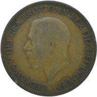 1928 HALF PENNY OF GEORGE V.     #WT15613