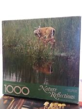 "NATURE REFLECTIONS Springbok 24""x30"" Card Table Jigsaw Puzzle 1000 pc complete"