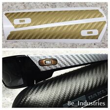 Oakley Gascan - Gold Carbon Fiber Vinyl Skin 1/2 Wrap