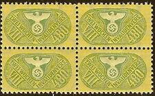 Stamp Germany Revenue Block WW2 3rd Reich War Era Invalid VIII 480 MNH