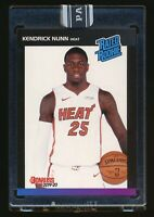 2019-20 PANINI INSTANT KENDRICK NUNN RC BLACK '89 ROOKIE HEAT 1/1 One Of One
