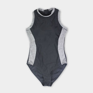 Primark Swimming Workout Grey Black Swimsuit & Built in Support 8 10 12 14 16 18
