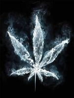 ART PRINT POSTER PAINTING DRAWING COOL WEED MARIJUANA SMOKE LEAF LFMP1016