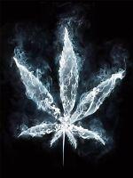 ART PRINT POSTER PAINTING DRAWING COOL WEED MARIJUANA SMOKE LEAF LFMP1016
