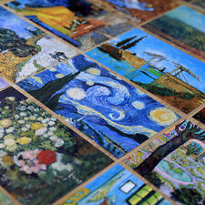 30 Sheet/ Box Van Gogh Oil Painting Bookmarks Postcards Vintage Wish Card Gift