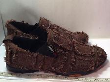 Scarpa Sport Mens Slip On Shoes. US Size 10 EU 43. Brown & White Fringe Design.