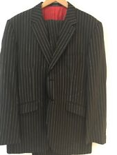 Ozwald Boateng Men's Stripped Dark Grey Suit UK XL