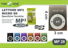 Lettore Mp3 Digital Player TeKone MP28 Con Memoria Espandibile Microsd hsb