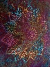 Queen Indian Star Tie-Dye Mandala Tapestry Bohemian Throw Wall Hanging Bed Cover