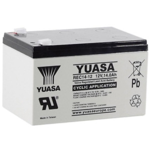 2 x YUASA REC 14-12 12V 14Ah (12Ah & 15Ah) - MOBILITY SCOOTER WHEELCHAIR BATTERY