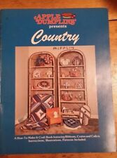 APPLE DUMPLINS' COUNTRY QUILT PATTERN FREE SHIPPING