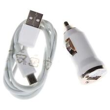 Car Charger Adaptor Bullet Micro USB +Micro USB Cable For Samsung Galaxy S6 J GJ