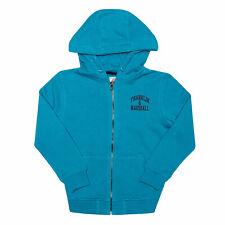 Junior Boys Franklin And Marshall Badge Logo Zip Hoody In Blue- Zip Fastening-