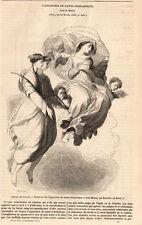APPARITION DE SAINTE SCHOLASTIQUE PRESS ARTICLE 1847 PRINT