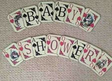 Baby Shower Alice In Wonderland  Playing Card  Bunting/banner decoration