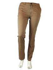 Filippa K pantalones señora vaqueros L M marrón, flat Front algodón nuevo trousers