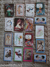 Lot/17 Single Vintage Swap Playing Cards -Ladies-Kids -Pepsi-Crafts-Scrap Supply