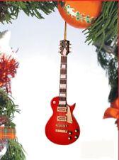 "Miniature 5"" Red Les Paul Electric Guitar Hanging Tree Ornament"