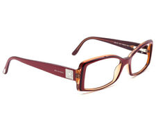 2f148519617 Bvlgari Eyeglasses 462-B 812 Burgundy on Amber Rectangular Frame Italy  52-15 135