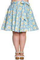 Daisy Gingham Plus Size Circle Sunshine Skirt Cotton Vintage 18 20 22 Hell bunny