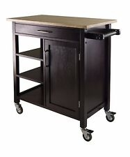 Kitchen Cart, Kitchen Island, Winsome, Portable Space Saver, Top Bar