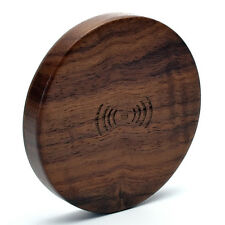 Wood Qi Wireless Power Charging Charger Pad For Smart Mobile Phone iPhone LG HTC