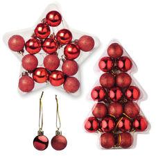 Décorations de sapin de Noël boules rouges