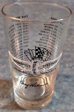 1957 INDIANAPOLIS MOTOR 500 SPEEDWAY SOUVENIR DRINKING GLASS TONY HULMAN
