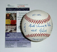 1969 PILOTS Jerry McNertney signed STAT baseball JSA COA AUTO Autograph Seattle