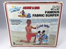 """Vintage 1988 Intex Mickey and Pals Famous Fabric Surfer Float 45""""x30"""""""
