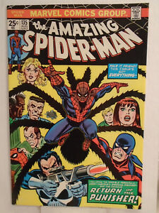 Marvel AMAZING SPIDER-MAN #135 (1974) 2nd Appearance of Punisher HIGH GRADE