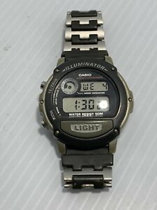 CASIO Wrist Watch W-87H 1536 With Stainless Steel Band.