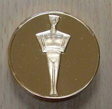 Superbe et énorme médaille Idole Cycladique dorée OR fin 24 Carats *L@@K*