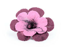 Magenta brooch, felt flower, romantic and sensual, pink sangria & reddish purple