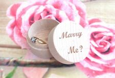 Small Wooden Milk Teeth Box Rounded Wedding Ring Box Personalised Name Wedding