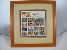 1999 PALAU ENVIRONMENTAL HEROES OF THE 20TH CENTURY FRAMED PLATE BLOCK STAMP
